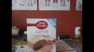 Betty Crockers New Carrot Cake Mixture Unboxing Comparing gaming software