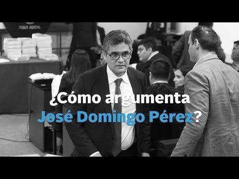 ¿Cómo argumenta José Domingo Pérez?