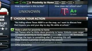 NCAA Football 11 Recruiting Tips
