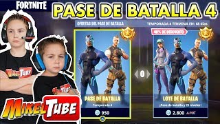 FORTNITE The new Battle Pass 4 with 2 Skins
