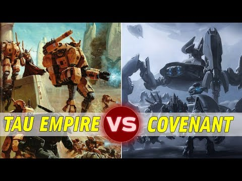 The Tau Empire (WH40k) vs The Covenant | Warhammer 40k vs Halo: Galactic Versus