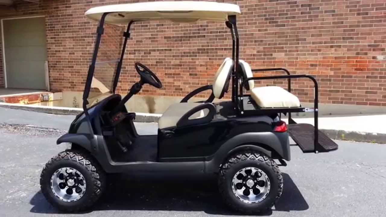 black lifted club car precedent with turn signals more youtube. Black Bedroom Furniture Sets. Home Design Ideas
