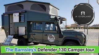 The Barnsley's big adventure, Defender 130 camper tour.