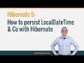 How to persist LocalDateTime & Co with Hibernate 5
