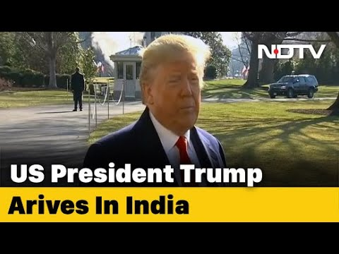 """Download """"Namaste Trump"""": US President, First Lady Melania Arrive In India"""
