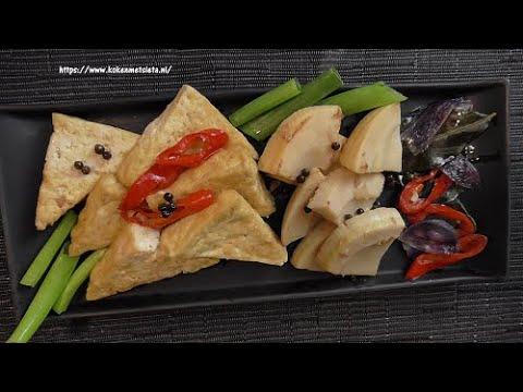 Bamboescheuten met tahoe (vegetarisch)