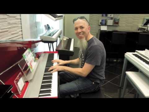 Jordan Rudess at Yamaha Music store,Ginza,Tokyo,Japan