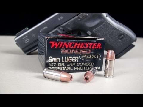 9mm Winchester 147 gr Bonded PDX1 Ammo Gel Test