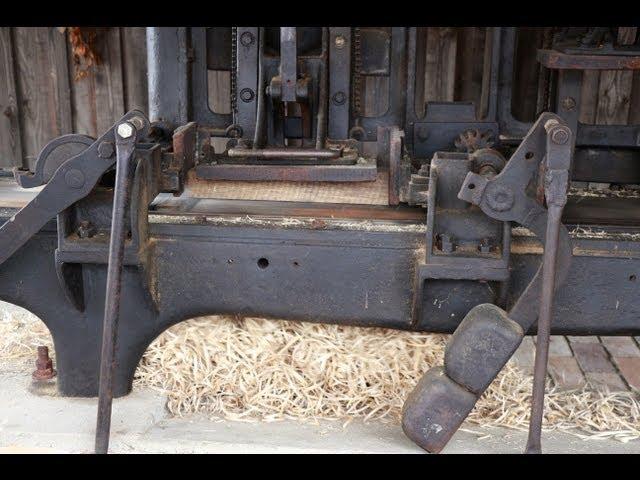 Holzwolle-Hobelmaschine von 1900