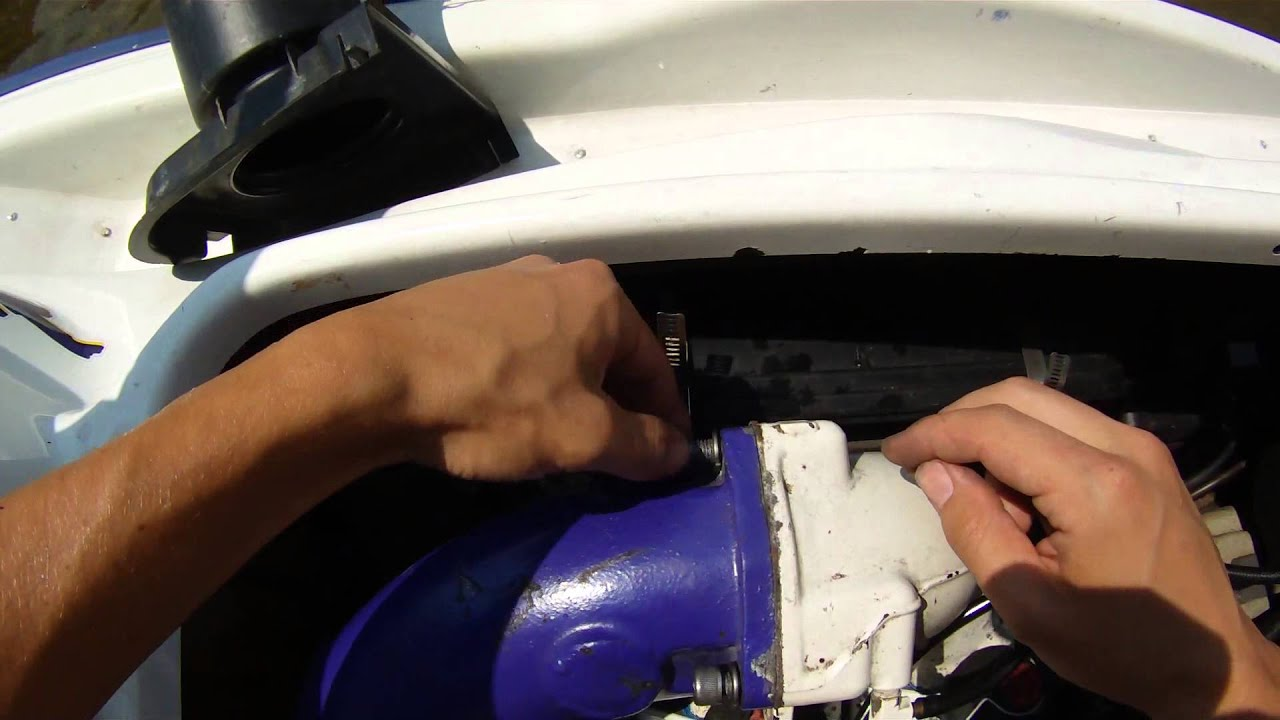 How to Fix Leak in Sea Doo Jet Ski, Fix Cracked Exhaust pipe in Sea Doo  1996 GSX