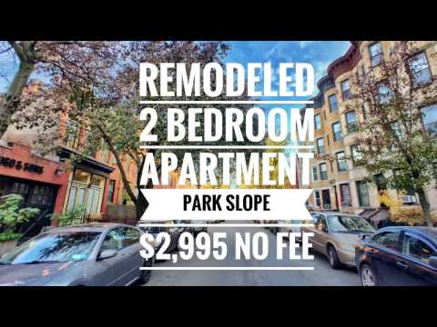 🙂Video tour of remodeled apartment in Park Slope, Brooklyn New York NY near Prospect Park Nice Flat
