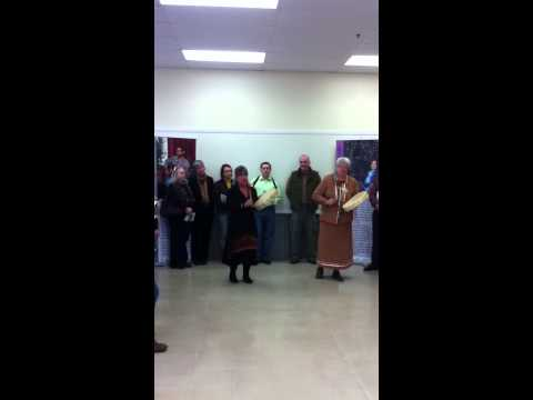 Mi'kmaq Prayer at Kinship Exhibit