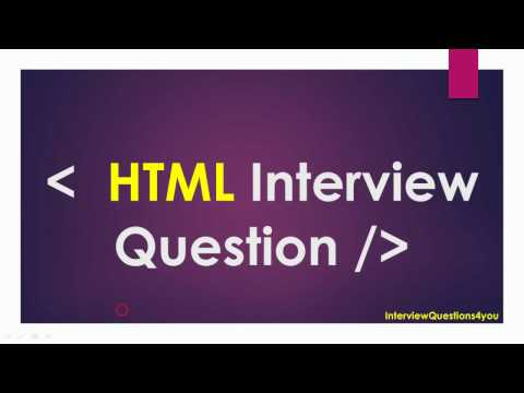 Html ( Web Developer ) Interview Questions