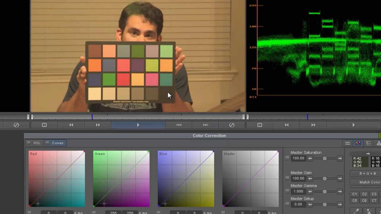 Using the mcbeth color chart to color grade video youtube nvjuhfo Image collections