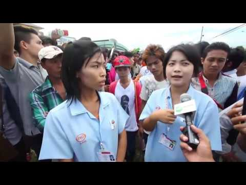Migrant Workers in Thailand waiting for Daw Aung San Suu Kyi