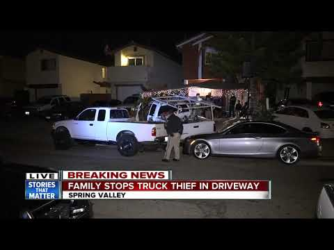 Spring Valley family stops truck thief in driveway