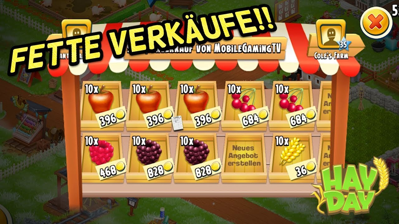 Hay Deutsch Hay Day I Deutsch/german I Fetter Verkauf!! 💲💲💲 - Youtube