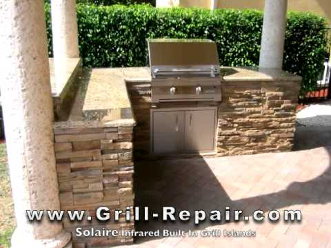 Custom Outdoor Kitchen Pictures With Solaire Infrared