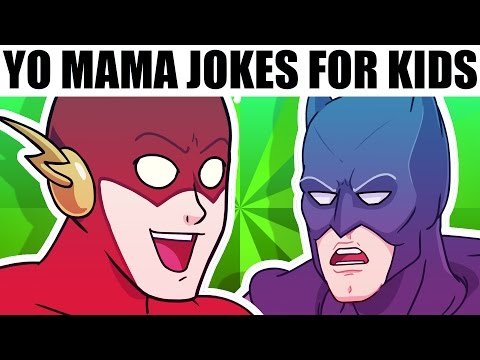 YO MAMA FOR KIDS! Super Heroes ft. Superman, Batman and The Flash (Cartoon)