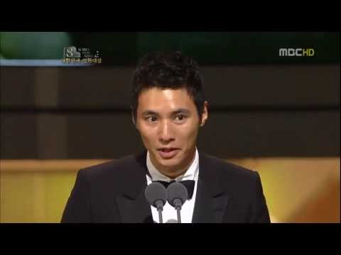 Won Bin winning Best Actor at Korea Film Awards 2010 for The Man From Nowhere