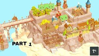 Pocket Build Timelapse | building a mountain village | part 1