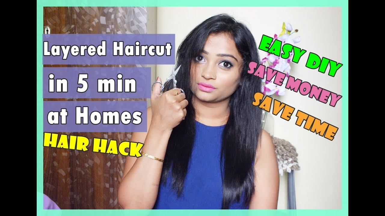 Layered Haircut In 5 Minutes At Homes Easy Diy Indian Mom On