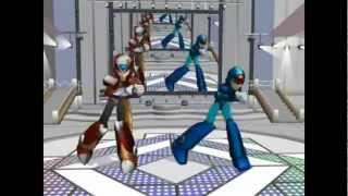 megaman x zero and axl getting jiggy with it music video