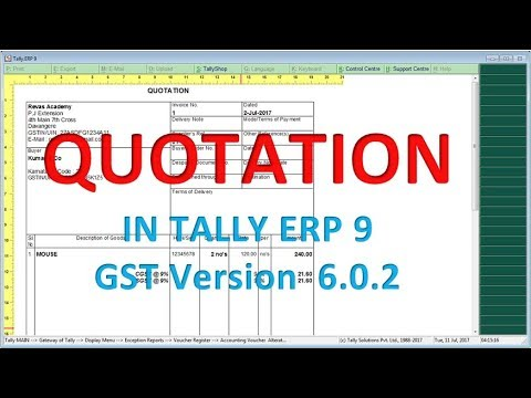 quotation proforma invoice in tallyerp9 602 new release gst lesson 10