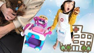 動物の先生ごっこ マックスタッフィンズ ケアカート 病院おもちゃ Mcstuffins Care Cart Hospital Toy