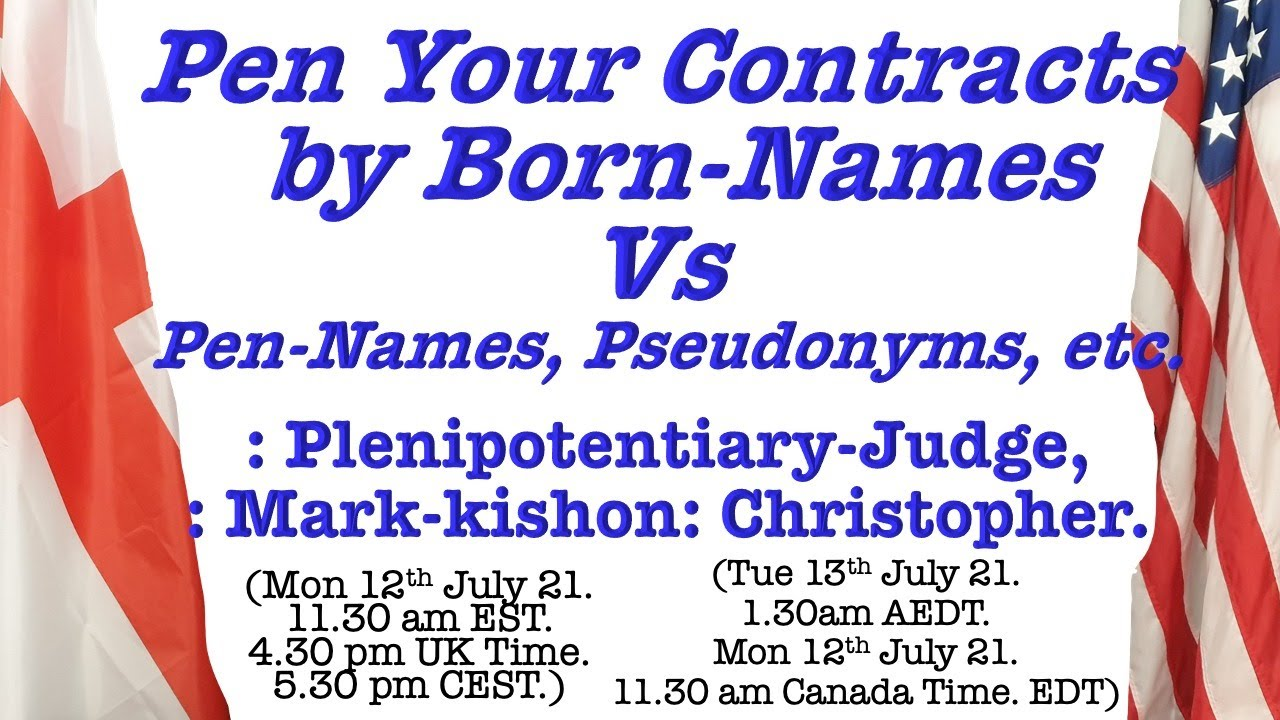 Pen Your Contracts by Born-Names Vs Pen-Names, Pseudonyms, etc.