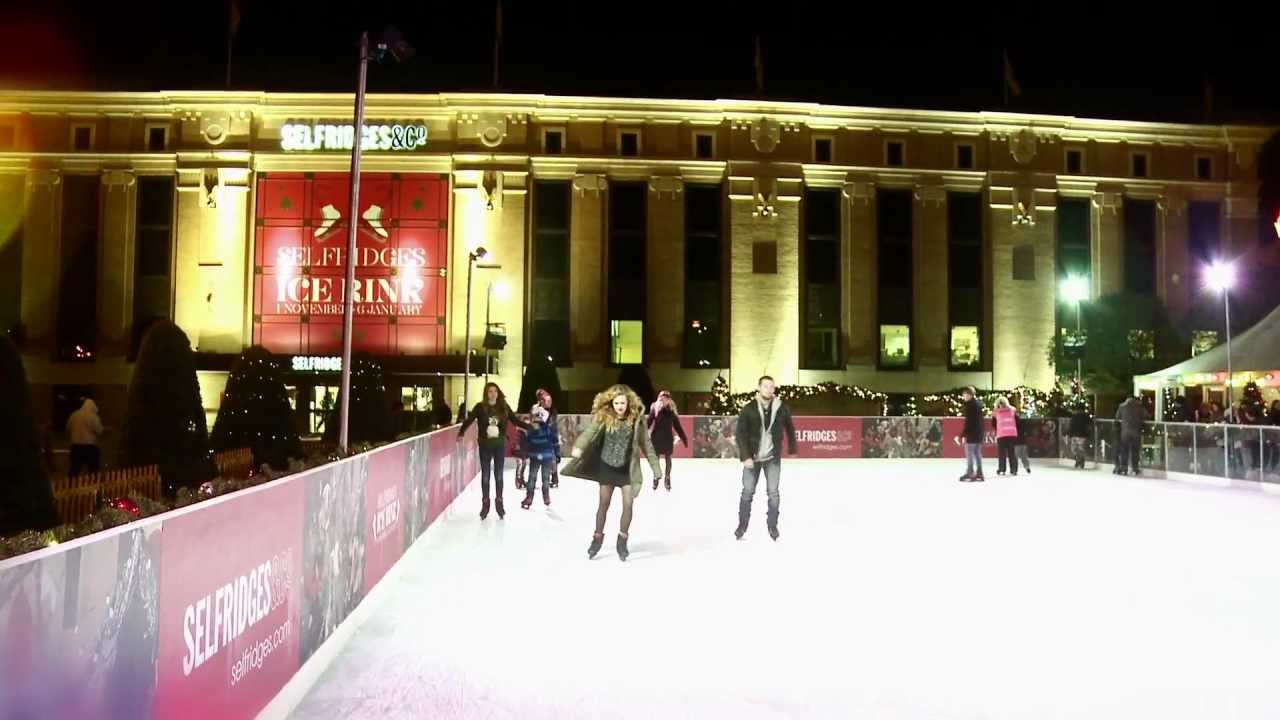 selfridges manchester trafford ice rink christmas 2012 youtube