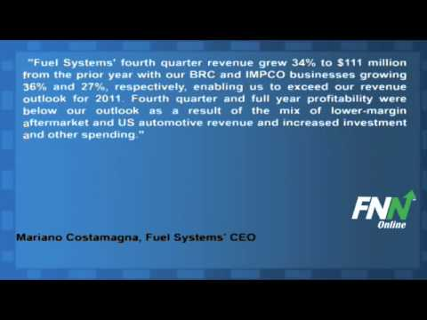 Fuel Systems Reports Mixed Earnings For Q4, Rose 36.6% Year-Over-Year (FSYS)