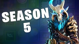 REACTING TO THE SEASON 5 BATTLE PASS ON FORTNITE!