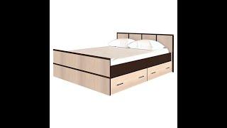 Кровать Сакура с ящиками 1.4\1.6 м БТС