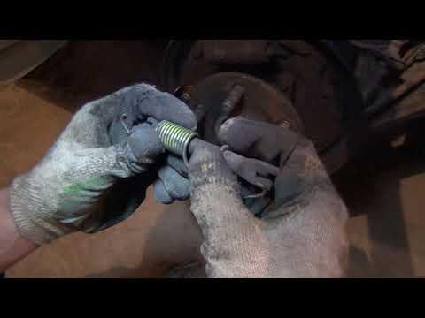 замена задних тормозных колодок toyota allion (premio)240 барабанные тормоза