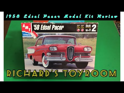 Plastic Model Kit Review & Build: 1958 Edsel in 1/25 scale by amt/ERTL. 1999 release.