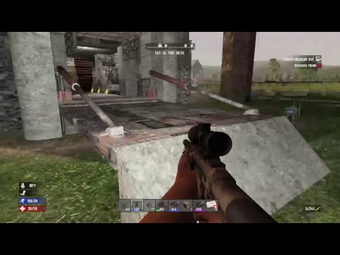 【PS4】ver 1.15 7 Days to die day.47 落差140m over!? 落とし穴崩落させる!