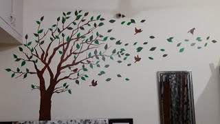 How To Make A Beautiful Wall Painting Learn Step By Step Youtube