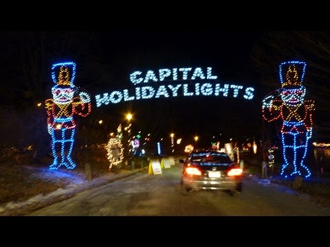 Albany New Yorks Capital Holiday Lights In The Park