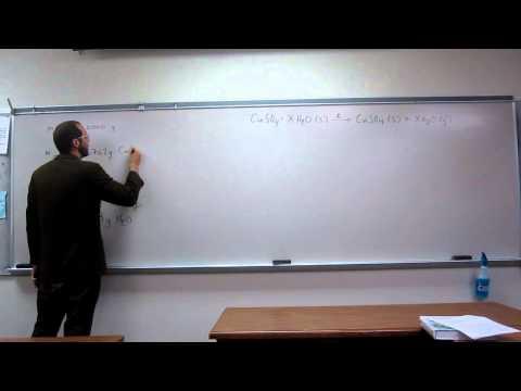 Calculate The Formula Unit Of A Hydrate 005