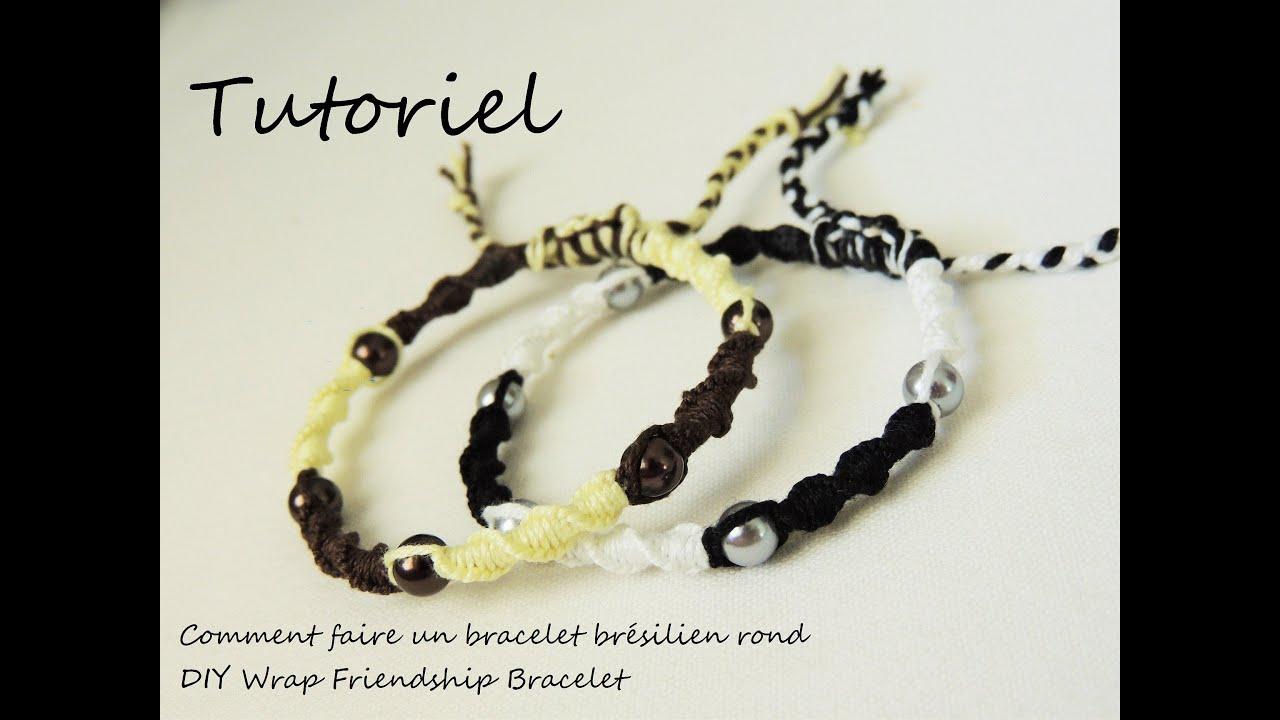 comment faire un bracelet brésilien rond (diy wrap friendship
