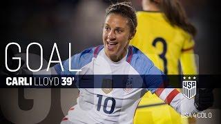 WNT vs. Colombia: Carli Lloyd Goal - April 6, 2016