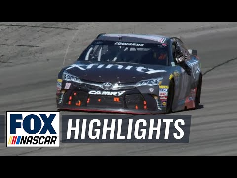 Carl Edwards Bumps Kyle Busch for Win - Richmond...