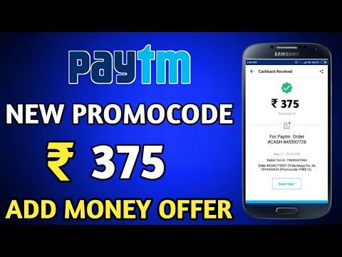 Paytm Add Money Paytm New PROMOCODE 2018 || ₹375 Paytm New Promocode ||Technical Ravi