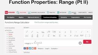 Function Properties: Range Pt 2