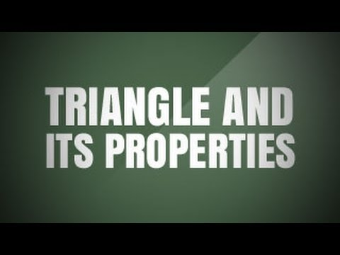 Triangle and its Properties | Class 7 Mathematics