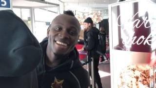 ÖFK hyllades på flygplatsen