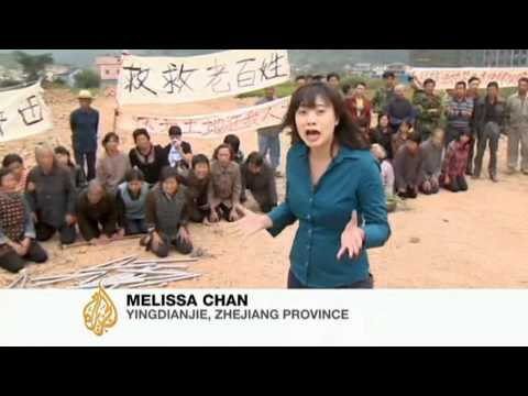 Chinese farmers protest land seizures