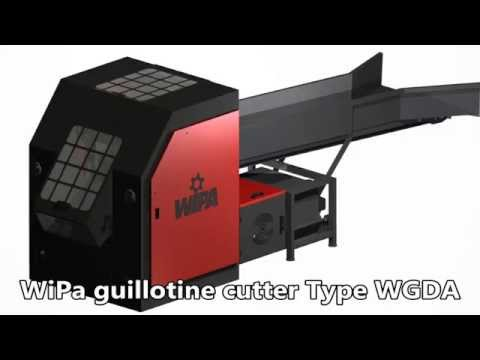 WiPa Guillotine cutter Type WGAD - PET Fiber