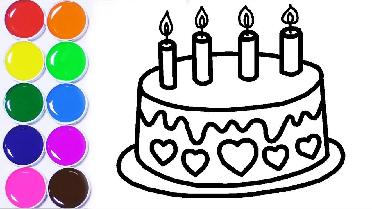Dibuja Y Colorea Torta De Cumpleaños Aprende Colores Para Niños Learn Colors Funkeep